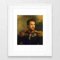 robert downey jr Framed Art Prints featuring Robert Downey Jr. - replaceface by replaceface