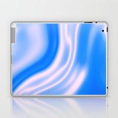 blue and white waves Laptop & iPad Skin