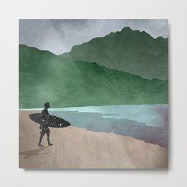 The Surfer Metal Print