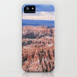 Sunset over Hoodoos - Bryce Canyon National Park, Rocky Natural Landscape, Utah Hiking Photography iPhone Case