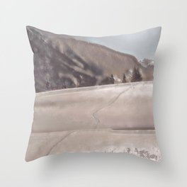 Footsteps II Throw Pillow