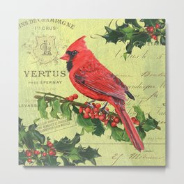 Cardinal Peace Metal Print