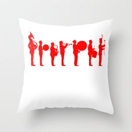Marching band red Throw Pillow