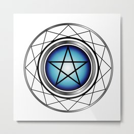 Glowing Pentagram Metal Print