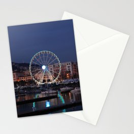 Italy : Ferris wheel for the Luci d'Artista 2018, Christmas lights show in Salerno, December, 2018 Stationery Cards