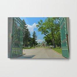 Calvary Cemetery Gate II Metal Print