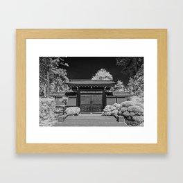 Japanese Tea Garden Gate, Golden Gate Park, San Francisco, California Framed Art Print