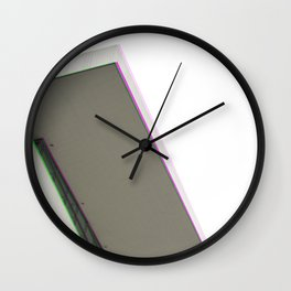 Architecture Glitch Wall Clock