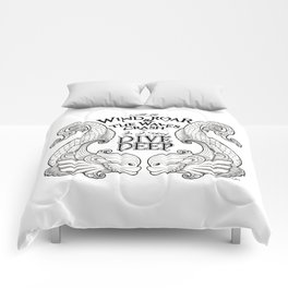 Dive Deep - Black and White Comforters