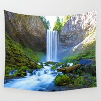 waterfall Wall Tapestries featuring Waterfall by 2sweet4words Designs