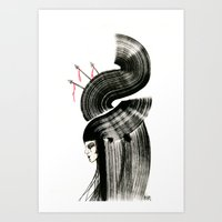 arrows Art Prints featuring arrows by Kraken Khan