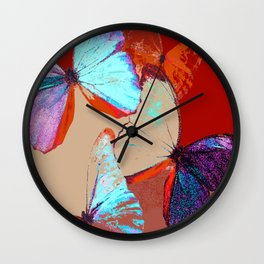 Butterflies in different colors Wall Clock