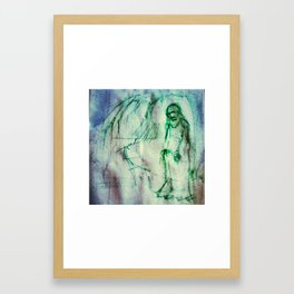 Vladimir Karabegov Sketch In Green Marker Framed Art Print