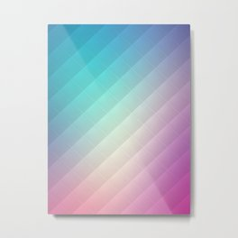 Abstract Rainbow Pattern Metal Print
