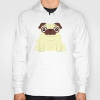pug Hoodies featuring Pug by Hoborobo