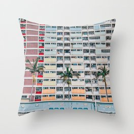 Rainbows at Choi Hung Throw Pillow