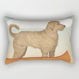 Doodle Goldendoodle Labradoodle Canoe Fowler Rectangular Pillow