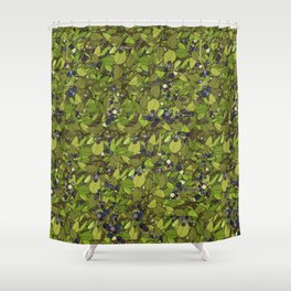 Blueberry Bushes Shower Curtain