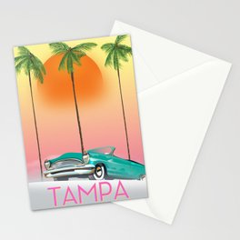 Tampa Florida Travel poster Stationery Cards
