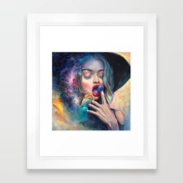 BLACK HOLE IN THE MILKY WAY Framed Art Print
