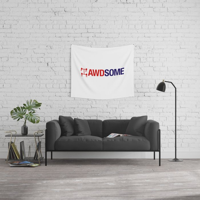 AWDSOME v2 HQvector Wall Tapestry