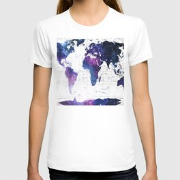 ALLOVER THE WORLD-Galaxy map T-shirt