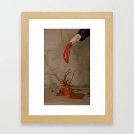 Rootless. Red hand Framed Art Print