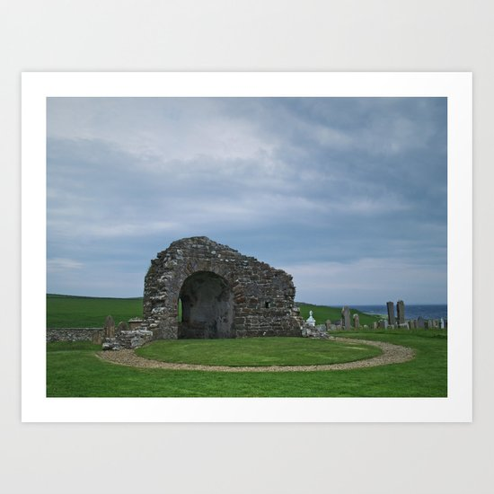 Orphir Round Church Art Print