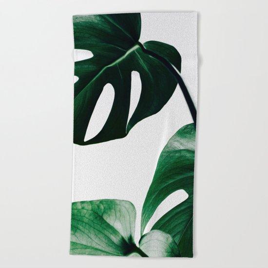 ELEGANT MONSTERA CLUSTER PATTERN Beach Towel
