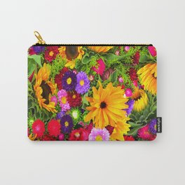Flower mix Carry-All Pouch