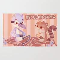 regular show Area & Throw Rugs featuring Regular Show by SweetOwls