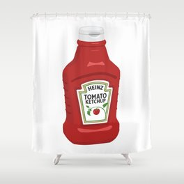 Single Ketchup Bottle Shower Curtain