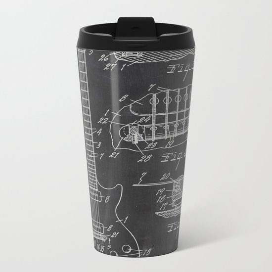Guitar Patent Metal Travel Mug