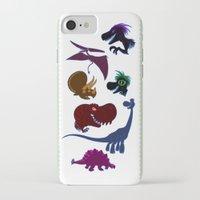 cartoons iPhone & iPod Cases featuring Dinosaur Cartoons by Cartoonasaurus