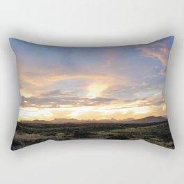 Mountains on Fire Rectangular Pillow