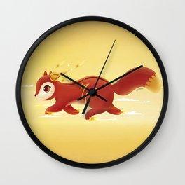 Super Hero Flash Squirrel Wall Clock