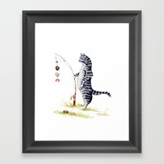 Gone Fish'en Framed Art Print
