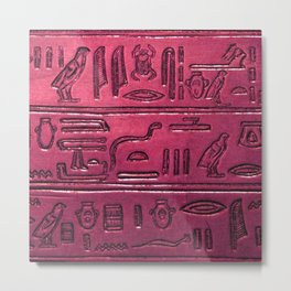 Hieroglyphs 2014-1031 Metal Print
