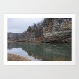 A Brisk Oklahoma Waterscape Art Print