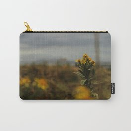 French Fall Yellow Flower Carry-All Pouch