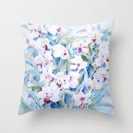 Cymbidiums Throw Pillow