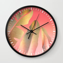 Shining Banana Leaves Wall Clock