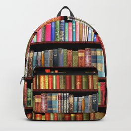 Book Lovers Gifts, Antique bookshelf Backpack