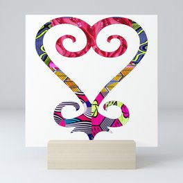 Pink Sass Sankofa Heart Mini Art Print
