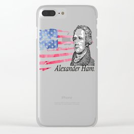 Alexander Hamilton The Musical Clear iPhone Case