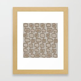 Dangling Rectangles in Brown Framed Art Print