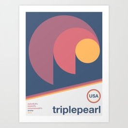 triplepearl single hop Art Print