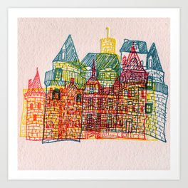 Letterpress Castle 4 Art Print