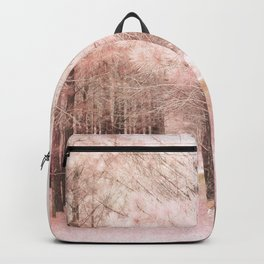 Pink Nature Woodlands Trees Baby Girl Nursery Decor Backpack