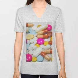 Pills (Color) Unisex V-Neck